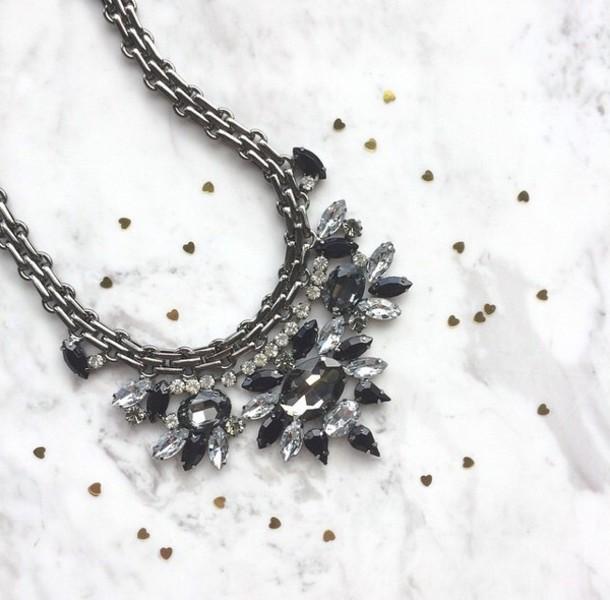 jewels necklace strass silver jewelry silver jewelry style