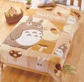 totoro,bedding,kawaii,brown