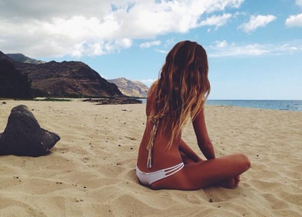 swimwear 802527 wanted summer bikini strappy bikini blogger bottoms white swimwear