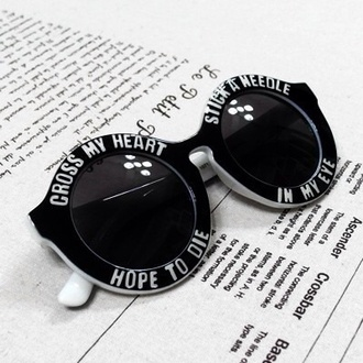 sunglasses black cute beautiful sexy white quote on it love it so much circle sun glasses big sunglasses vintage round sunglasses