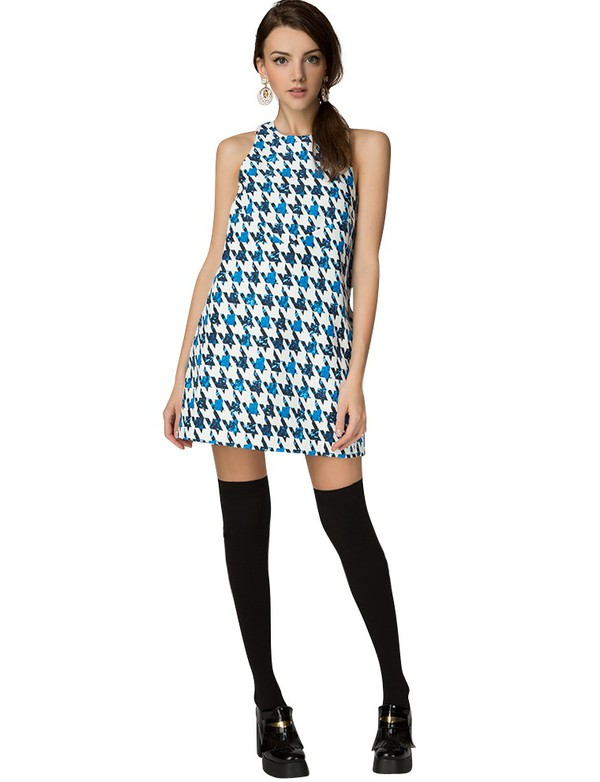 girls night out dress holiday party dress fall outfits fall outfits fall trend pre fall back to school shift dress houndstooth houndstooth print dress party dress houndstooth shift dress cut out back dress trendy dresses cute dress transitional pieces affordable dresses pixie market pixie market girl