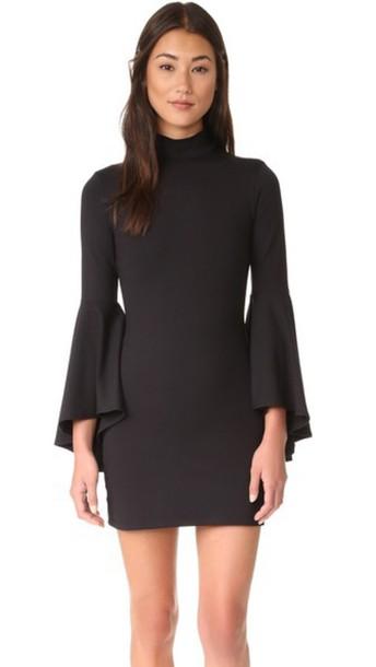 Susana Monaco Izzie Mock Neck Dress - Black