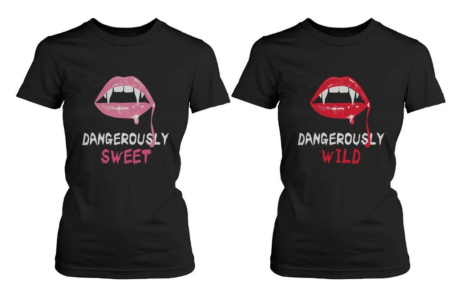 Amazon.com: Best Friend Shirts - Dangerously Sweet and Wild Best Friends Matching BFF Black Shirts: Clothing