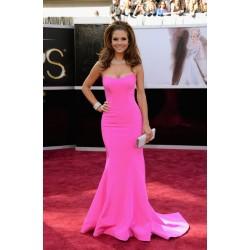 Maria Menounos Pink Celebrity Evening Dress the 85th Annual Oscar Awards Red Carpet