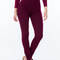 High waist skinny jeggings black burgundy - gojane.com