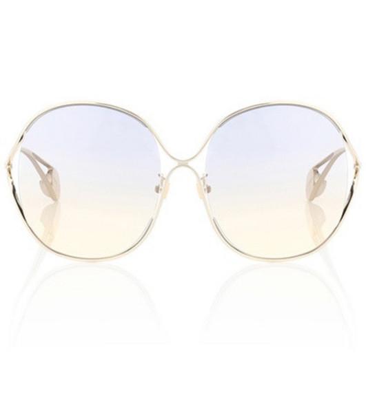 Gucci Oversized round sunglasses in gold