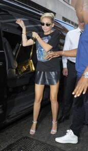 skirt,black,leather,mini,miley cyrus,cyrus,bbc,london