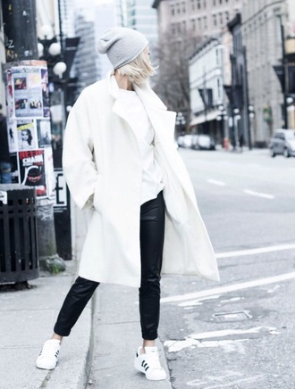 coat white cold winter outfits fashion style