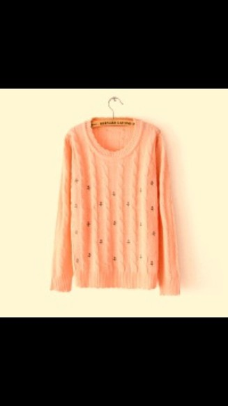 lovely peachy warm wanted sweater