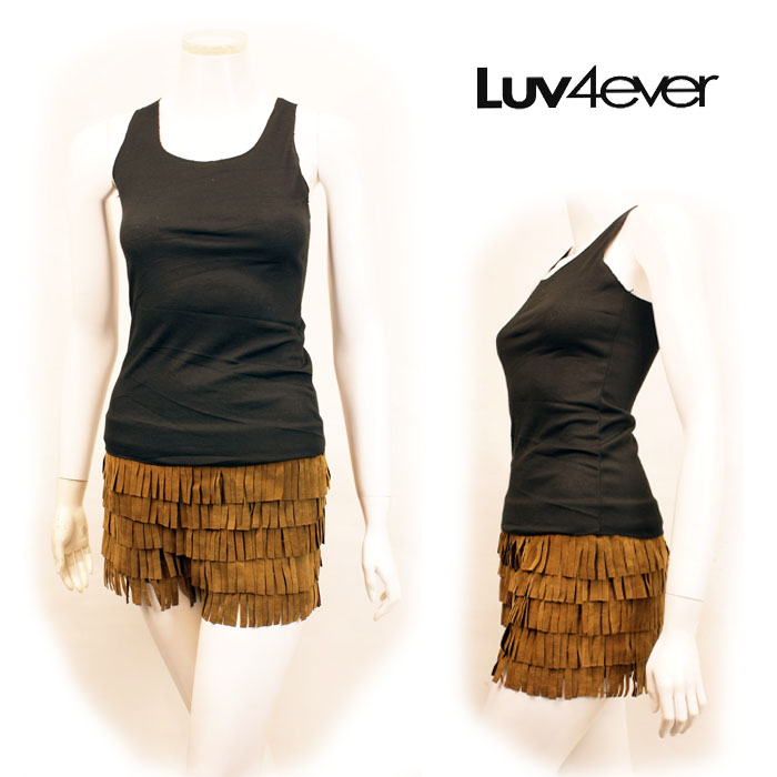 Rakuten: Luv4ever fringe short pants / suede Luv4ever original Lady's fringe western celebrity fashion celebrity-style - Shopping Japanese products from Japan