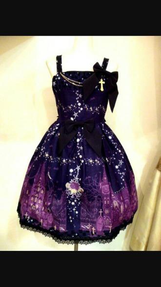 dress galexy purple dress