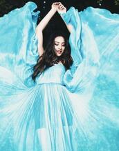 dress,maxi dress,blue dress,blue,pretty little liars,shay mitchell