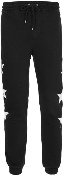 Topman Black Star Print Deep Cuff Joggers in Black for Men | Lyst