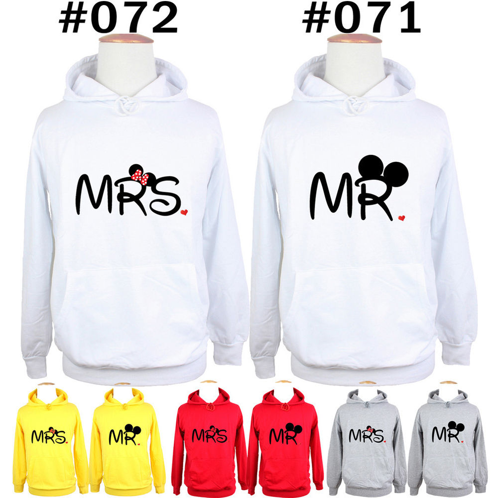 Disney mr mickey mrs minnie mouse couple sweatshirt boys girls hoodie hoody tops
