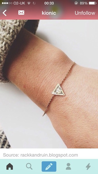 jewels bracelets triangle pattern bracelet chains @bracelet accessories accessories style