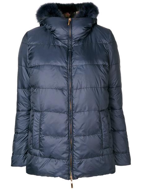 Blumarine jacket fur fox women classic blue
