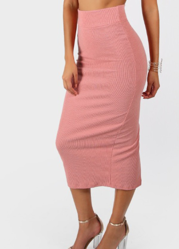 skirt girly girl pink bodycon bodycon skirt high waisted cute