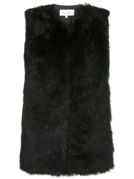 Ck Calvin Klein vest women black wool jacket