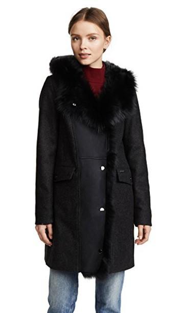Woolrich coat dark grey