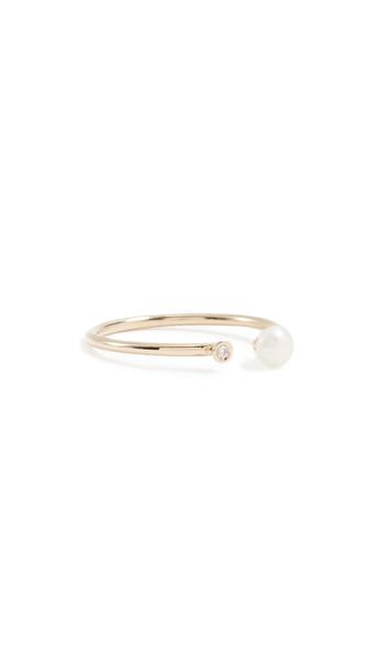 Ariel Gordon Jewelry Pearl & Diamond Ring in gold