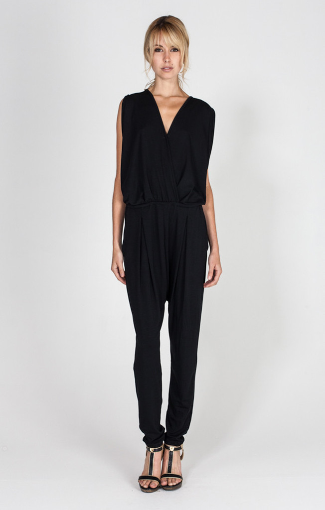 Butterfly jumpsuit in black