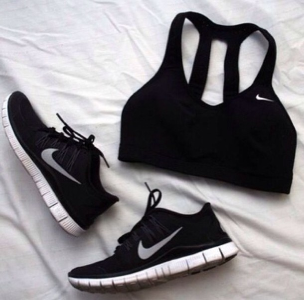 wholesale dealer c4ba6 a39cc shoes nike nike free run nike shoes black running shoes tank top