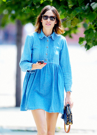 dress clothes babydoll dress alexa chung denim dress smock dress