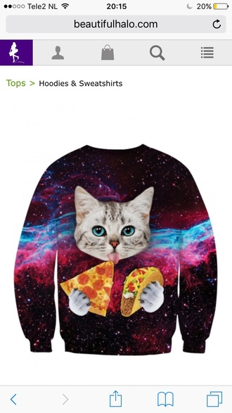 sweater warm cats galaxy print fashion trendy funny teenagers beautifulhalo