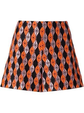 shorts yellow orange