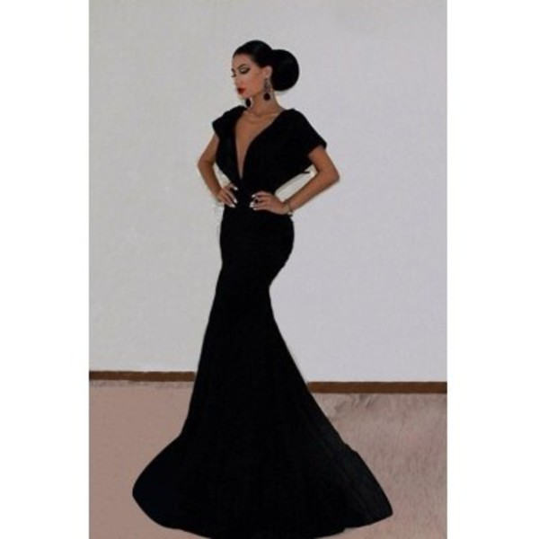 black dress backless dress prom dress gala dress dress without sleeves long gown