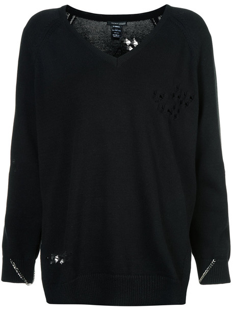 Thomas Wylde sweater women cotton black