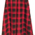 ROMWE | ROMWE Belted Checkered Red Umbrella Skirt, The Latest Street Fashion