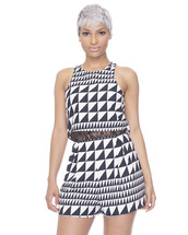 romper,black and white,black and white romper,checkered,checkered romper