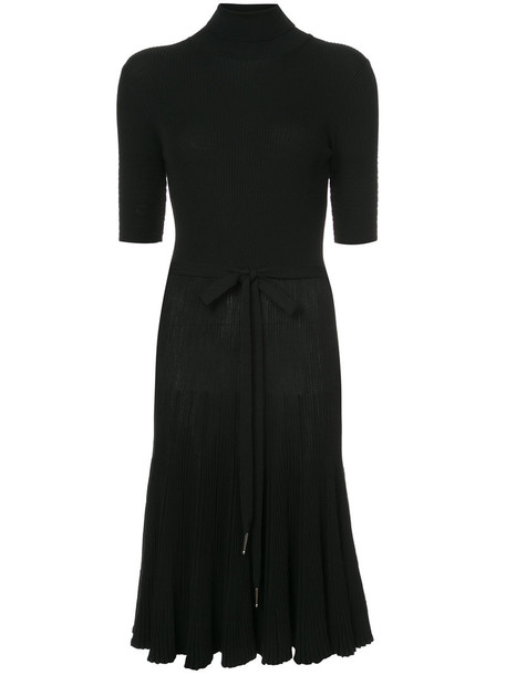 NINA RICCI dress flare dress flare women fit black wool