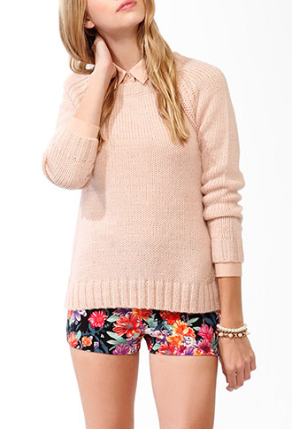 High-Low Rib Knit Sweater | FOREVER21 - 2043486920