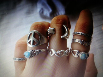 jewels ring rings stone jewelry pretty beautiful hipster moon sun