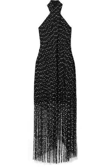 Jacquemus - Cortese fringed bouclé halterneck maxi dress
