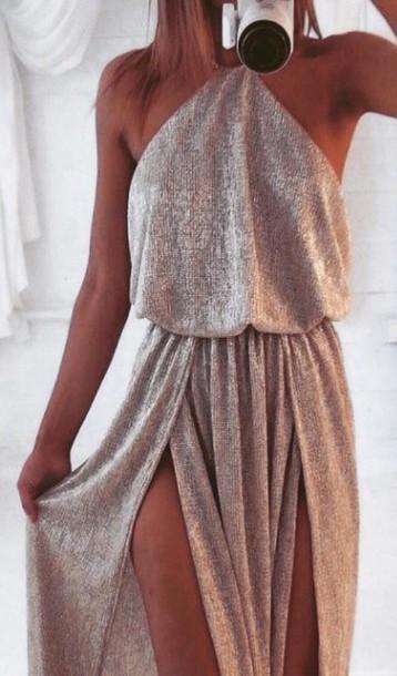b519a4789fc8 dress gold maxi dress maxi sexy evening dress prom dress simple dress  summer ball dress high
