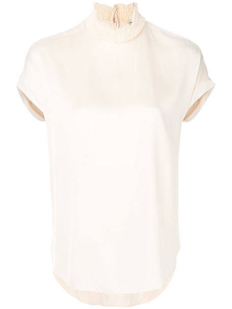By Malene Birger blouse women spandex nude silk top
