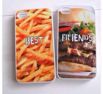 jewels bff cute iphone case fast food junk food vintage phone cover iphone cover hamburger fries