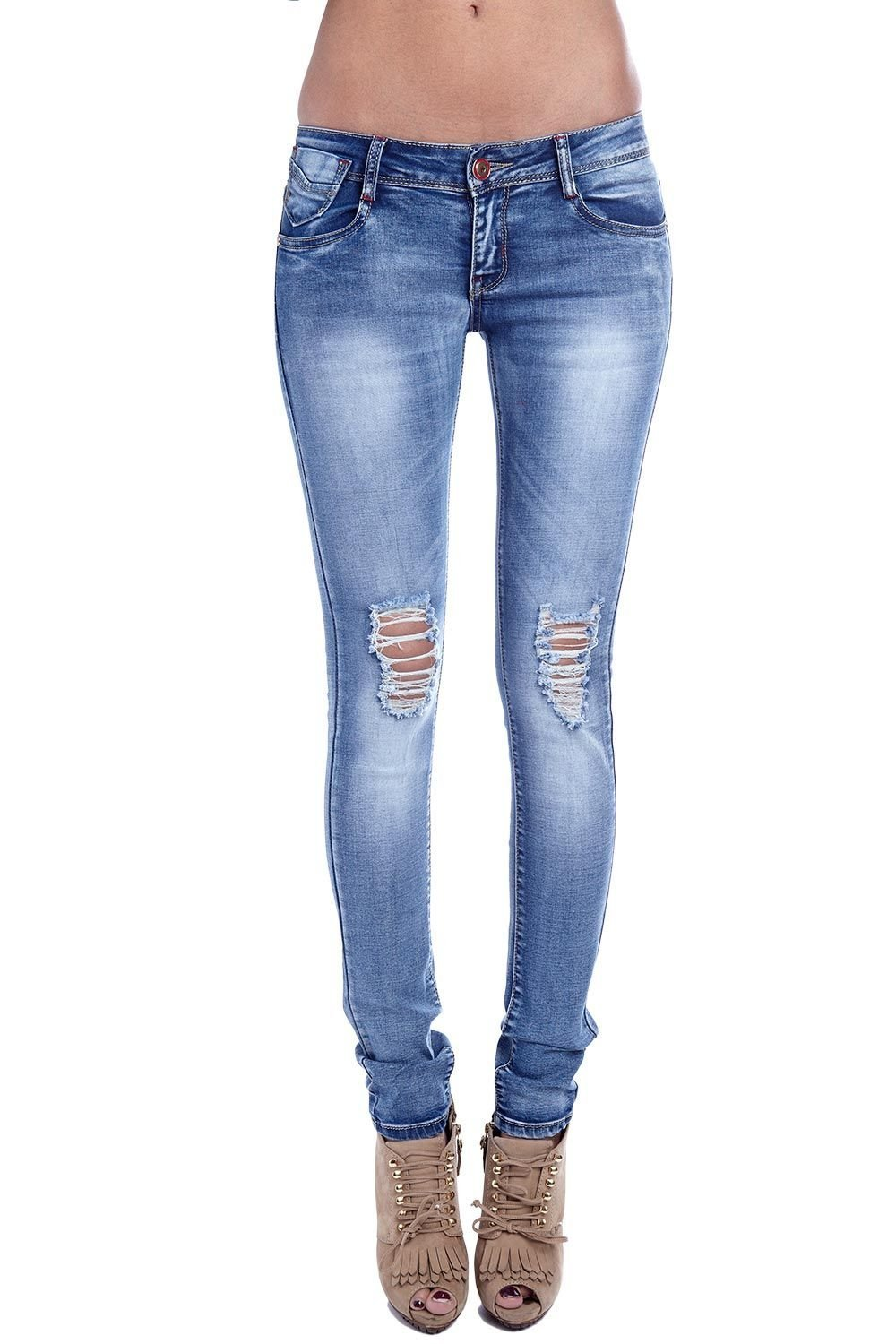 Q2 Womenu0026#39;s Super Skinny Jeans With Low-rise Waist At ...