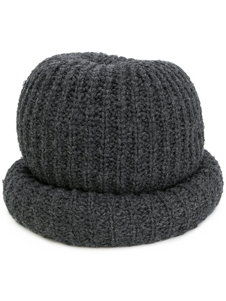 women beanie wool grey hat