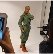 jumpsuit,green,military style,style,celebrity style,teyana taylor,beautiful,sexy,girly