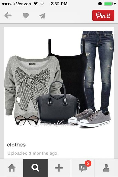 cute shirt bows sweatshirt jeans sweater