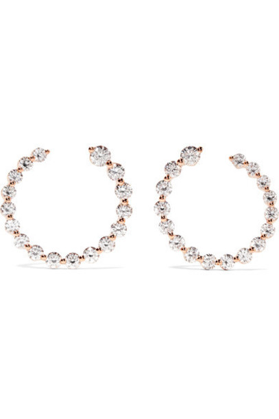 Anita Ko rose gold rose earrings hoop earrings gold jewels