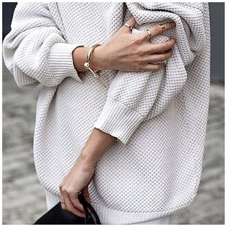sweater grey sweater white white sweater oversized sweater