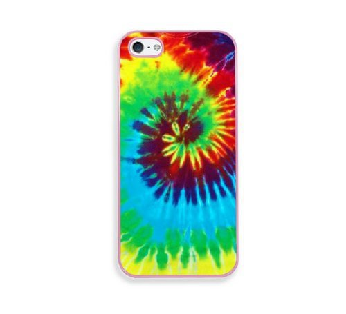 Tie Dye Pink Silicon Bumper iPhone 5 & 5S Case - Fits iPhone 5 & 5S - Parts & Accessories