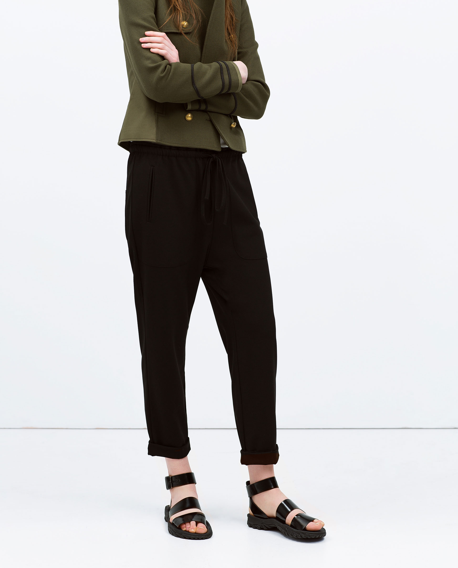 Simple Zara Baggy Jogging Trousers In Multicolor  Lyst