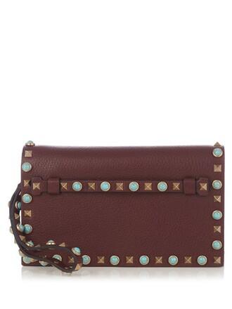 leather clutch clutch leather burgundy bag