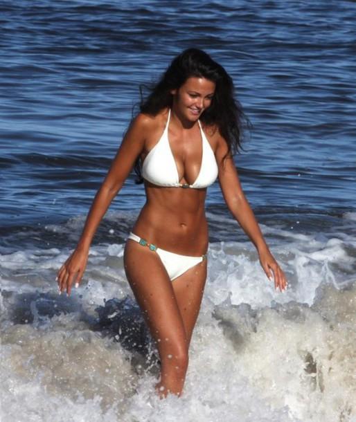 swimwear white halter bikini